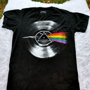 Pink Floyd tee shirt graphic design dark side moon